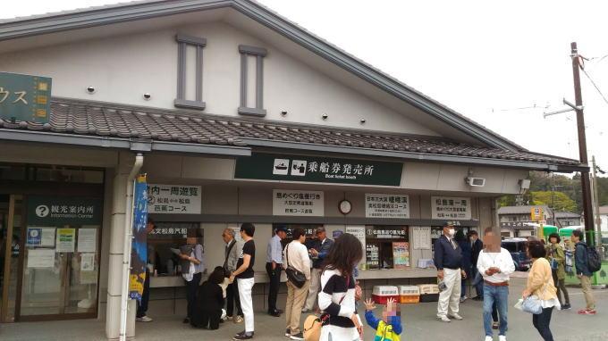 丸文松島汽船のカウンター